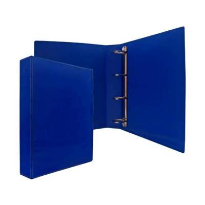 Папка-файл на 4 кольцах, темно-синяя, PVC, 50 мм, диаметр 35мм.