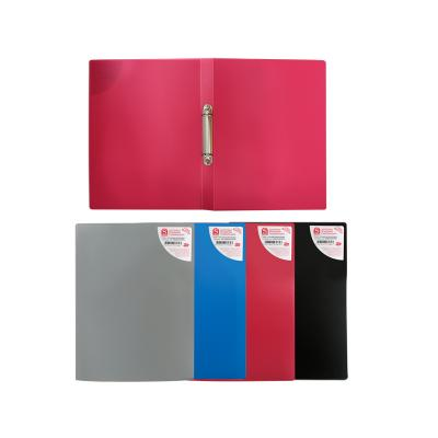 Картинка для Папка на 2 кольцах, ф.А4, ассорти (черная, синяя, красная, серая), 0,4 мм|2