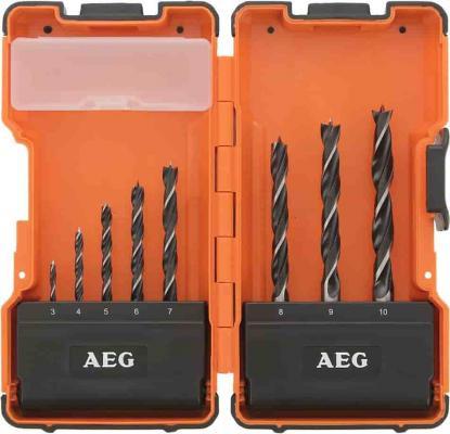 Набор сверл AEG 4932352247  сверел power по дереву 8шт