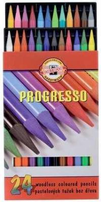 Набор карандашей цветных PROGRESSO, 24, цв., лаковый корпус без дерева набор карандашей koh i noor progresso 6 штук