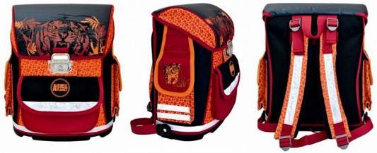 Ранец ортопедический Action! ANIMAL PLANET Тигр черный красный оранжевый рисунок AP-ASB4002/2/14 ранец animal planet колибри 36x30x17см жесткая анатомическая спинка