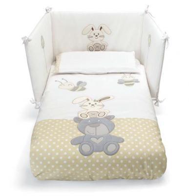 Сменное постельное белье 3 предмета Pali Celine (белый) кроватка качалка pali celine белый