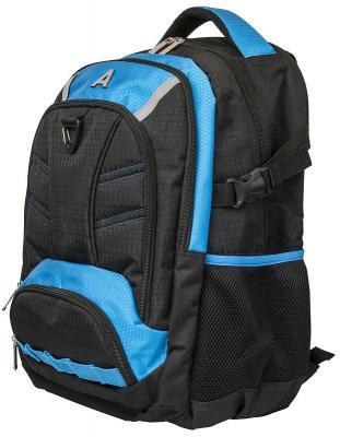 Городской рюкзак ручка для переноски Action! городской 17 л черный голубой AB11136