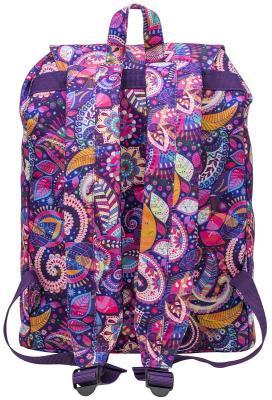 Купить Рюкзак ACTION городской, размер 38х27х13 см, с принтом, мягкая уплотненная спинка, д/девочек, , Action!, розовый, разноцветный, текстиль, Рюкзаки