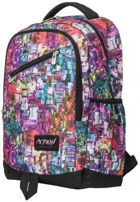 Рюкзак ACTION городской, размер 40.5x28x14,5 см, c принтом в стиле акварели, мягкая спинка, д/девоч рюкзак городской нейлон power in eavas 9065 blue в киеве