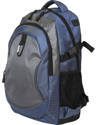 Купить Рюкзак ACTION городской, размер 45x28x13 см, мягкая спинка, синий с черным, унисекс, Action!, серый, темно-синий, полиэстер, Рюкзаки
