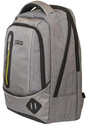 Рюкзак ACTION городской, с отделением для ноутбука, размер 46.5x30.5x17.5 см, мягкая спинка, унисекс