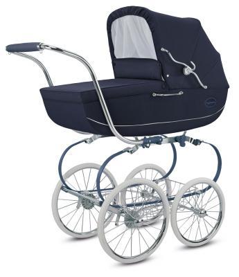 Коляска для новорожденного Inglesina Classica на шасси Balestrino Chrome Blue (AB05K0JBL + AE05H1000)