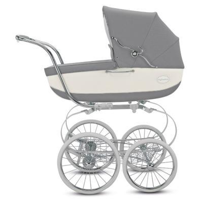 Коляска для новорожденного Inglesina Classica на шасси Balestrino Chrome White (AB05K0JAR + AE05H3100) коляска для новорожденного