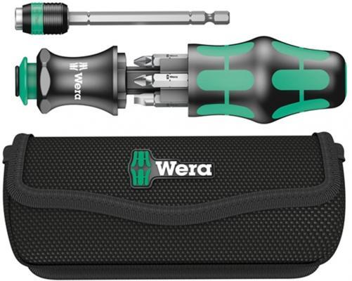 Набор бит WERA WE-051021 Kraftform Kompakt 20 с сумкой 7 предметов набор шестигранных ключей wera набор we 021909