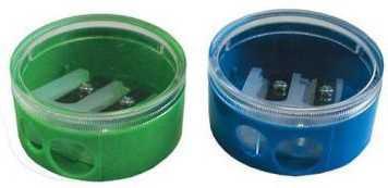 Точилка двойная пластмассовая, круглая форма цена