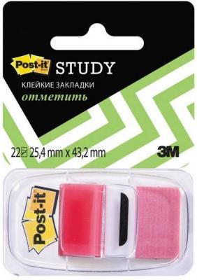Закладки POST-IT, красные, 25 мм, 22 шт закладки самоклеящиеся пластиковые 25 мм 22 шт 680 r lru