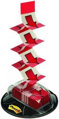 Закладки-стрелки POST-IT INDEX Мультипак, 25 мм, 200 шт, красные, на присоске ярлычки закладки post it index z сл пластик красные 25х43 2 мм 50шт