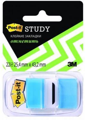 Закладки POST-IT, синие, 25 мм, 22 шт.|2 закладки самоклеящиеся пластиковые 25 мм 22 шт 680 r lru