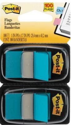 Закладки-ярлычки POST-IT, на полимерн. осн., голубые, 25ммх43,2 мм, 100 шт