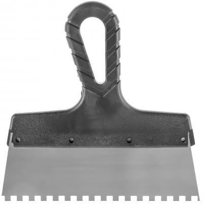 Шпатель зубчатый Hammer Flex 238-012 с антикор.покр. 150 мм, 6*6 мм