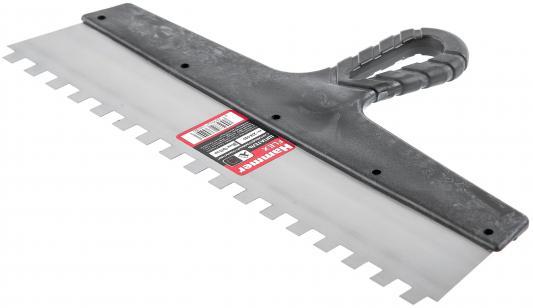 Шпатель зубчатый Hammer Flex 238-018 с антикор.покр. 350 мм, 6*6 мм