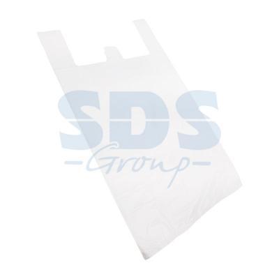 Пакет майка ПНД 30+16*60, 15мкм белая (100шт./уп) пакет для педикюрных ванн 50 х 70 см 100шт уп