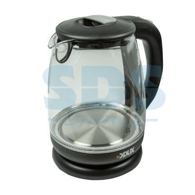 Чайник электрический DUX DX-1258B 2200 Вт чёрный прозрачный 1.7 л стекло 60-0708