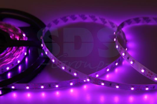 LED лента открытая, 8мм, IP23, SMD 2835, 60 LED/m, 12V, розовая