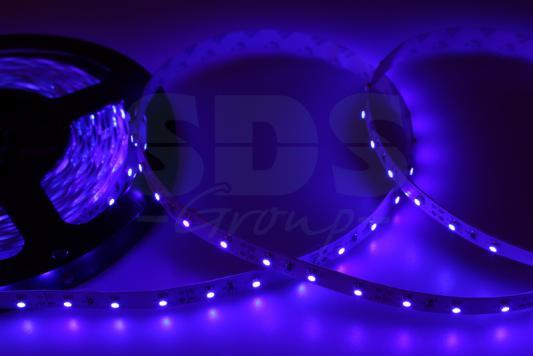 LED лента открытая, 8мм, IP23, SMD 2835, 60 LED/m, 12V, синяя led лента силикон 8мм ip65 smd 2835 60 led m 12v синяя