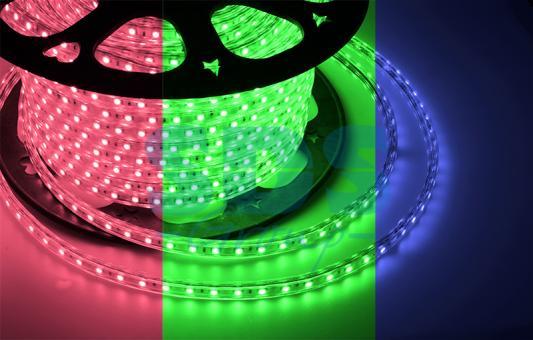 LED лента 220В, 10*7 мм, IP65, SMD 2835, 60 LED/m RGYB (МУЛЬТИ), бухта 100 м tny278gn smd 7