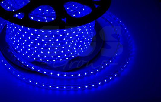 LED лента 220В, 10*7 мм, IP65, SMD 2835, 60 LED/m Синяя, бухта 100 м led portable floodlight 20w rechargeable spotlight lithium ion battery outdoor emergency camping fishing night work ip65 dynasty
