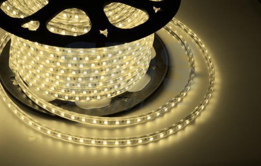 LED лента 220В, 10*7 мм, IP65, SMD 2835, 60 LED/m Тепло-белая, бухта 100 м tny278gn smd 7