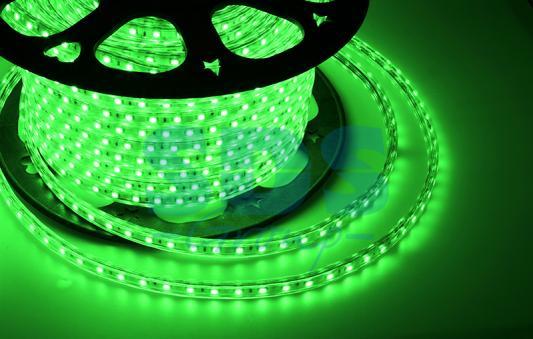 LED лента 220В, 13*8 мм, IP65, SMD 5050, 60 LED/m Зеленая festoon 38mm 1 62w 95lm 9 smd 5050 led pink purple light car reading tail door lamp 12 17v