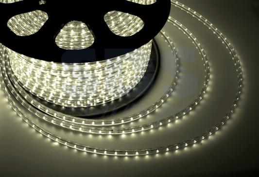Лента LED 220В, 13*8 мм, IP65, SMD 5050, 60 LED/m Тепло-белая 100и jrled jr led 5050 smd 14 4w 500lm orange led luminous module white yellow dc 12v
