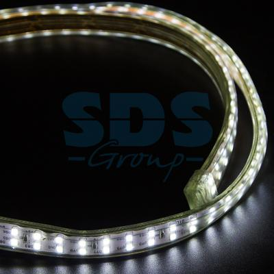 LED Лента 220В, 6.5x17мм, IP67, SMD 2835, 180 LED/м, Белый, 100м