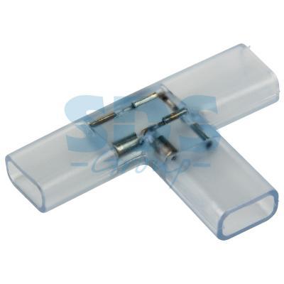 Муфта соединительная T для светодиодной ленты 220В, 9.5х6мм муфта для соединения валов shaft coupling 50 10 10 0 394 10 10 25 30 050170 coupling