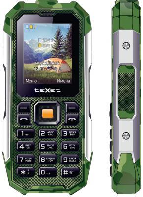 Мобильный телефон Texet TM-518R зеленый мобильный телефон ark benefit u281 белый 2 8 32 мб 3 симкарты