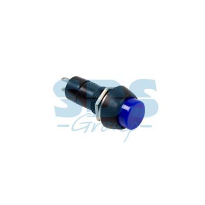 Выключатель-кнопка 250V 1А (2с) (ON)-OFF Б/Фикс синяя REXANT