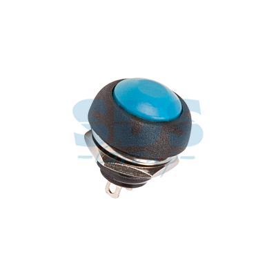 Выключатель-кнопка 250V 1А (2с) (ON)-OFF Б/Фикс синяя Micro REXANT