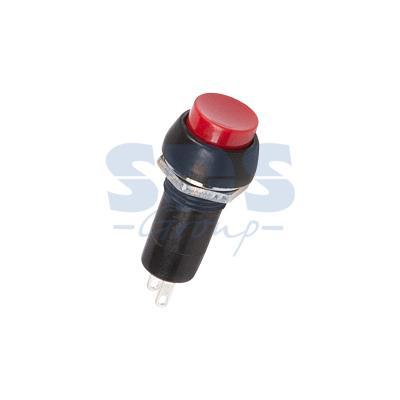 Выключатель-кнопка 250V 1А (2с) ON-(OFF) Б/Фикс (на размыкание) красная REXANT