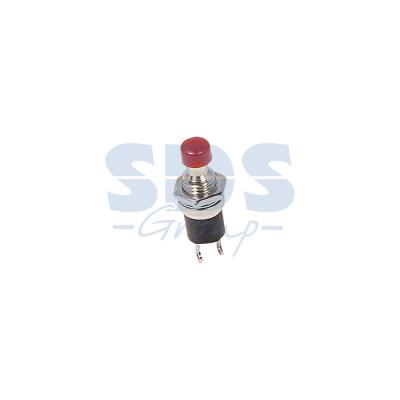 Выключатель-кнопка металл 220V 2А (2с) (ON)-OFF O7.2 красная Micro REXANT