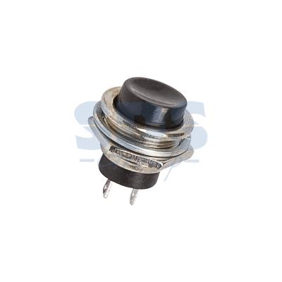 Выключатель-кнопка металл 250V 3А (2с) (ON)-OFF O16.2 черная REXANT выключатель rexant 250v 2a 2с 06 0338 a