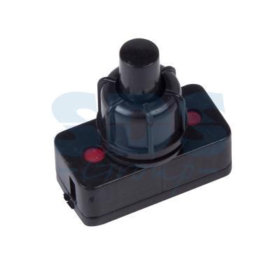 Выключатель-кнопка 250V 1А (2с) ON-OFF черный (для настольной лампы) REXANT