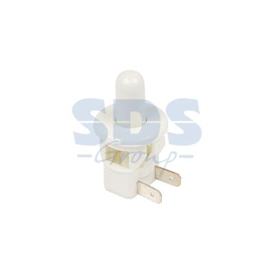 Выключатель-кнопка 250V 2.5А (2с) ON-(OFF) Б/Фикс белый (мебельная) REXANT ручка кнопка мебельная