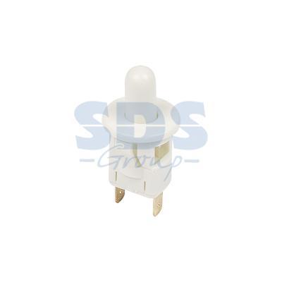 Выключатель-кнопка 250V 2.5А (2с) ON-(OFF) Б/Фикс белый (мебельная) REXANT выключатель rexant 250v 2a 2с 06 0338 a