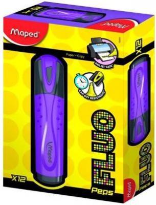 Текстовыделитель FLUO PEPS CLASSIC, пишущий узел 1-5мм, фиолетовый ручка post it 3 в 1 маркер текстовыделитель розовый шарик ручка белая 0 5мм 50 розовых закладок