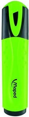 Текстовыделитель HIGHLIGHTER, классика, пишущий узел 1-5мм, зеленый текстовыделитель officespace оранжевый 1 5мм