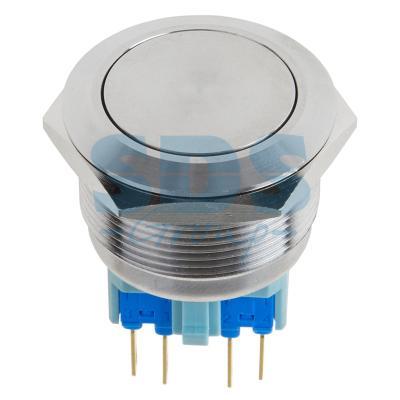 Кнопка антивандальная O25 Б/Фикс (ON)-OFF плоская REXANT