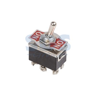 Тумблер 250V 10А (6c) ON-(ON) двухполюсный REXANT 5 pcs ac 6a 250v 10a 125v 3 pin black button on on round boat rocker switch