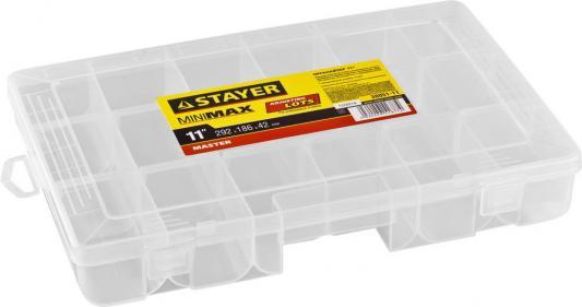 Органайзер STAYER 38051-11  пластиковый для крепежа и принадлежностей 292х186х42мм 11.5