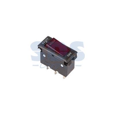 Выключатель - автомат клавишный 250V 15А (3с) RESET-OFF красный с подсветкой REXANT paradigm h55 r