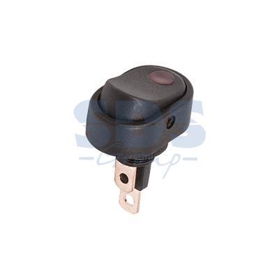 Выключатель клавишный 12V 30А (3с) ON-OFF черный ОВАЛ с красной подсветкой REXANT carprie new replacement atx motherboard switch on off reset power cable for pc computer 17aug23 dropshipping