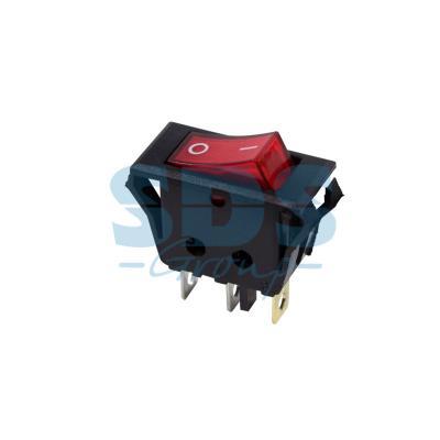 Выключатель клавишный 250V 15А (3с) ON-OFF красный с подсветкой REXANT carprie new replacement atx motherboard switch on off reset power cable for pc computer 17aug23 dropshipping