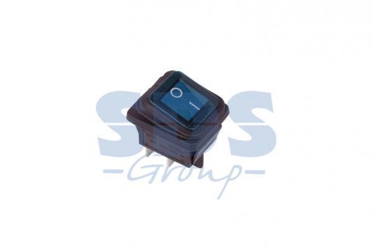 Выключатель клавишный 250V 15А (4с) ON-OFF синий с подсветкой ВЛАГОЗАЩИТА REXANT